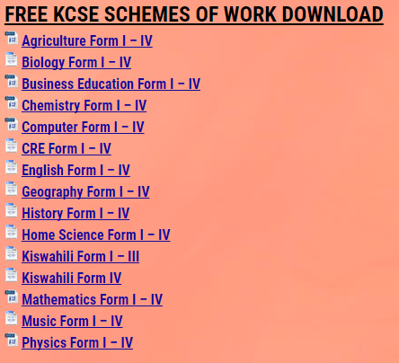 WHAT WE HAVE » KCSE REVISION