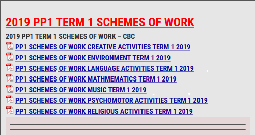 2019 PP1 TERM 1 SCHEMES OF WORK - KCSE REVISION