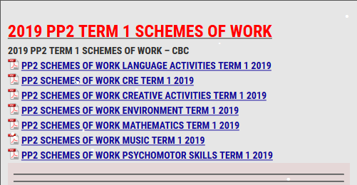 2019 PP2 TERM 1 SCHEMES OF WORK - KCSE REVISION