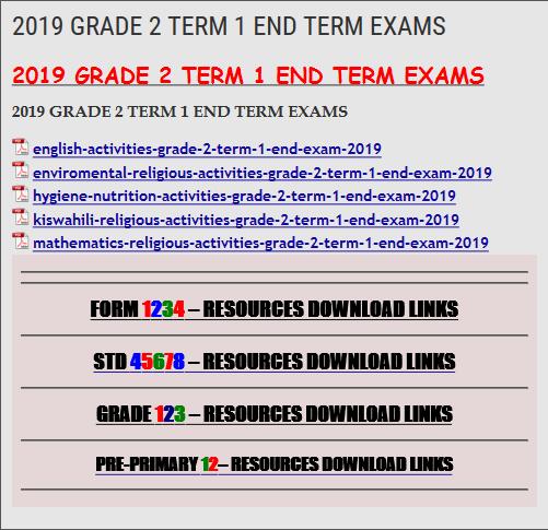 2019 GRADE 2 TERM 1 END TERM EXAMS - KCSE REVISION