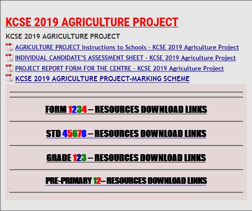 KCSE 2019 AGRICULTURE PROJECT - KCSE REVISION